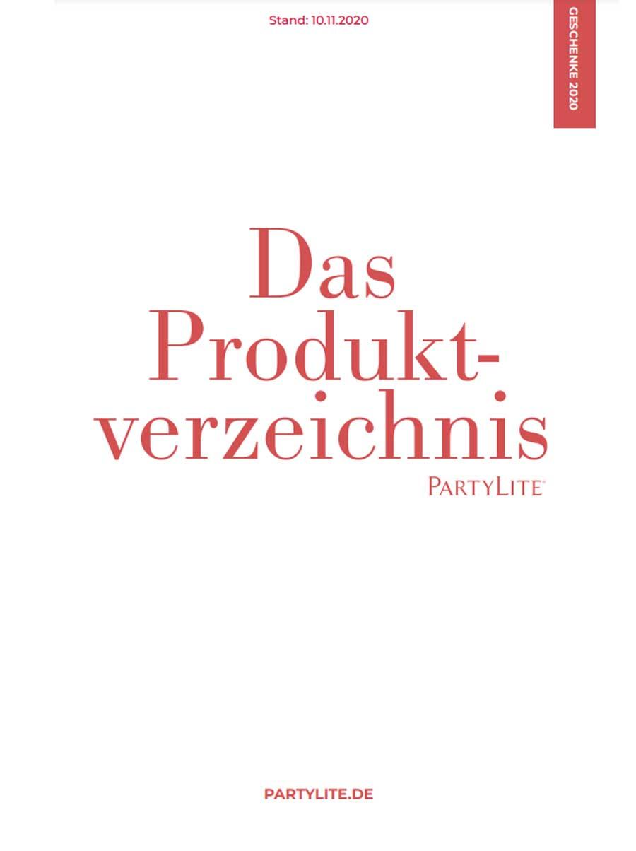 Das Produktverzeichnis